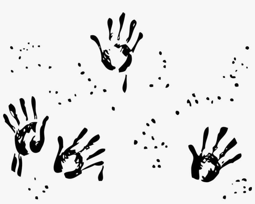 Small hand prints x. Handprint clipart muddy