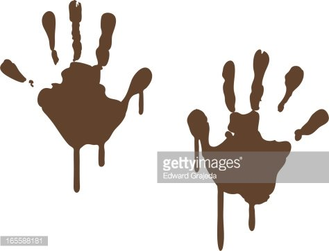 Handprint clipart muddy. Hand prints premium clipartlogo
