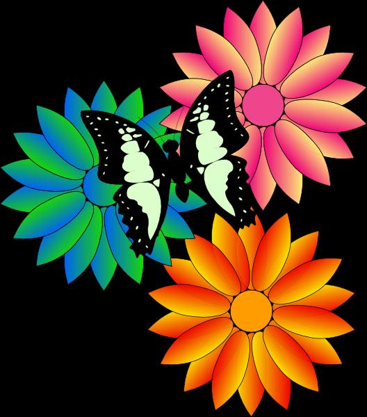 Clip art pictures flowers. Handprint clipart multi colored