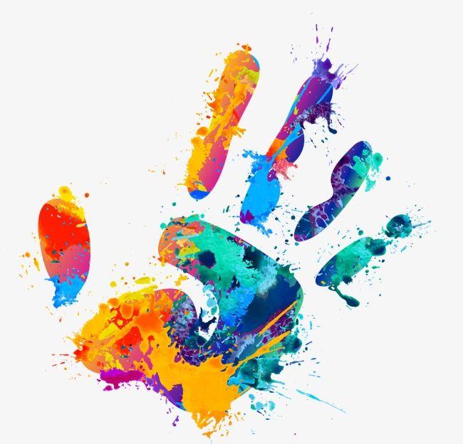 Handprint clipart multi colored. Graffiti color splash png