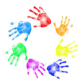 Free download best on. Handprint clipart multi colored