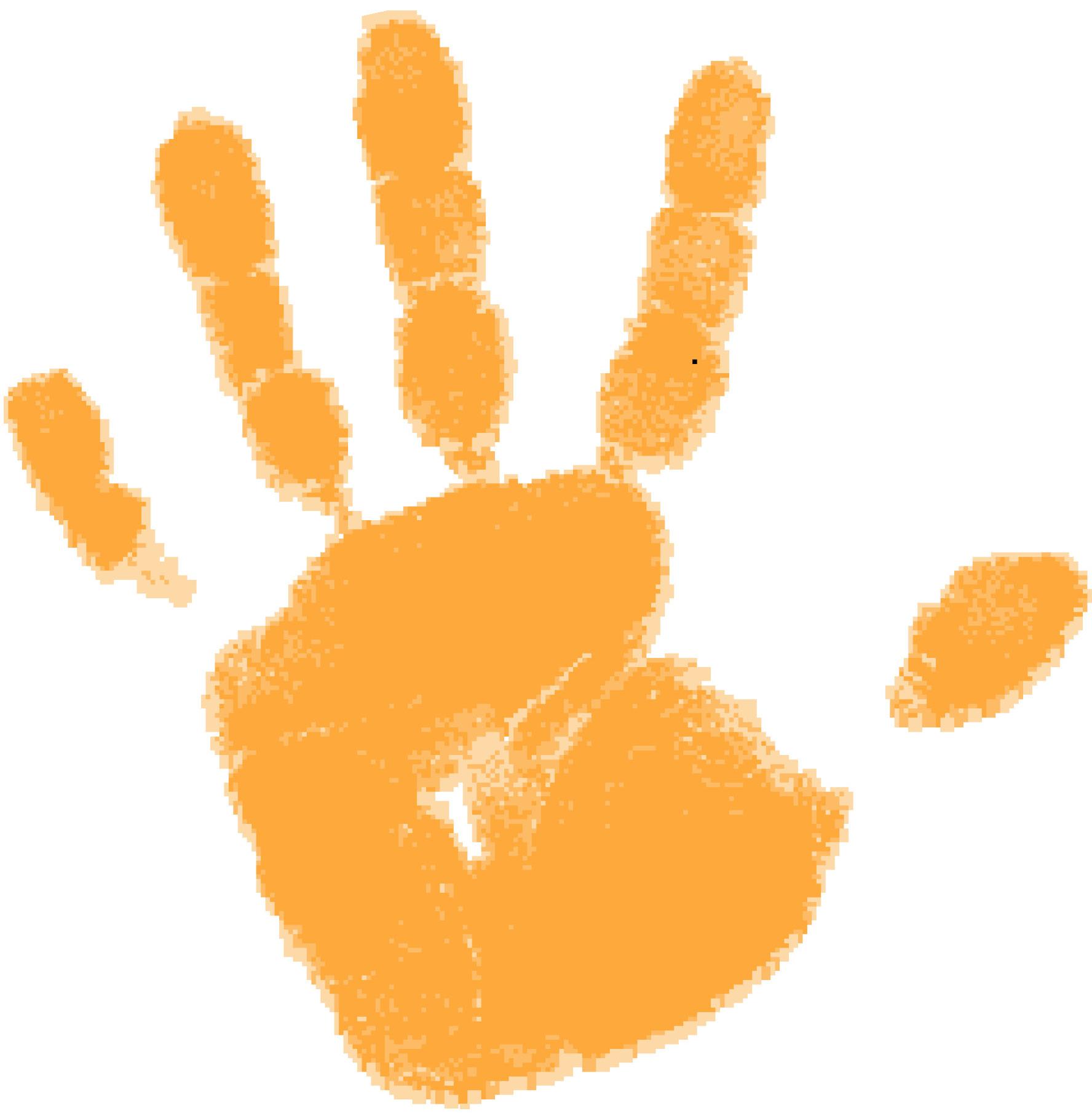 Free cliparts download clip. Handprint clipart orange