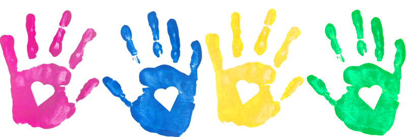Handprint clipart paint. Child hand prints free