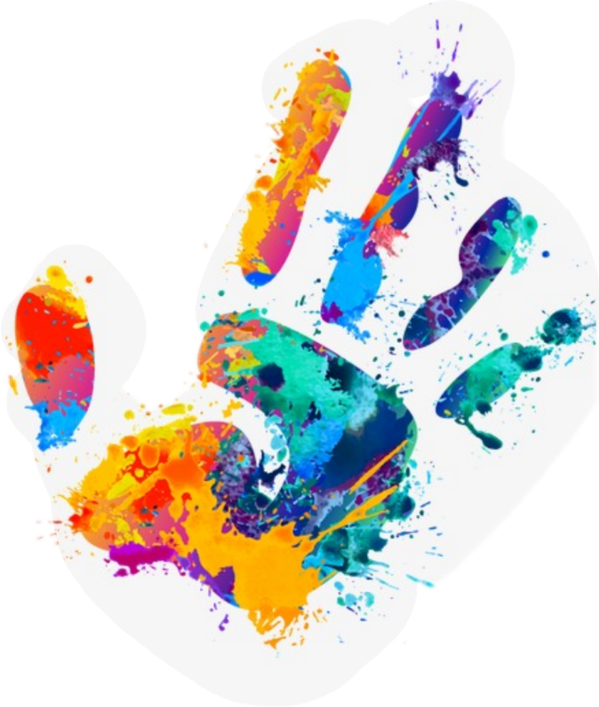 Handprint clipart paint. Graffiti sticker by janet