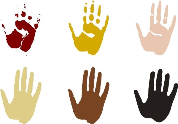 Handprint clipart palm print. Clip art free vector