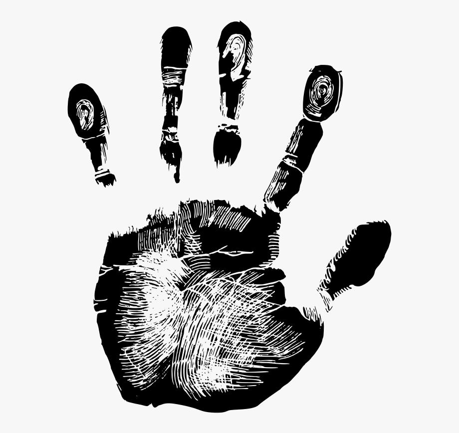 Handprint clipart palm print. Hand clip art free