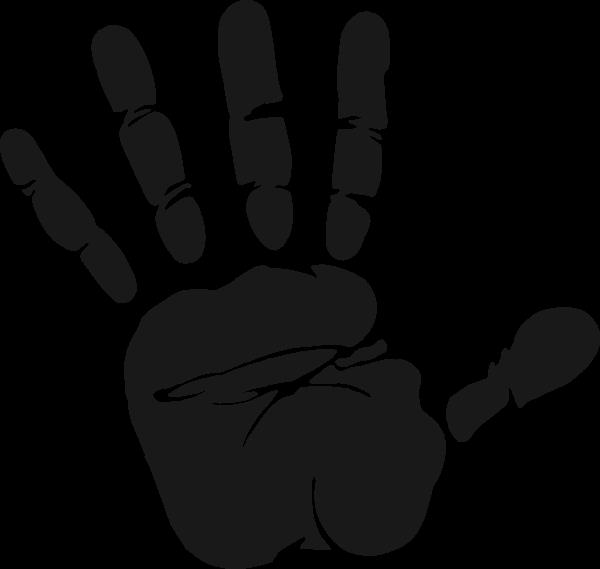 Cliparts zone . Handprint clipart palm print