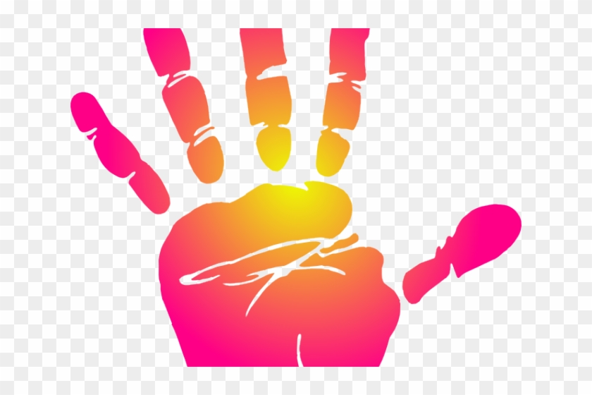 White hd png . Handprint clipart pink