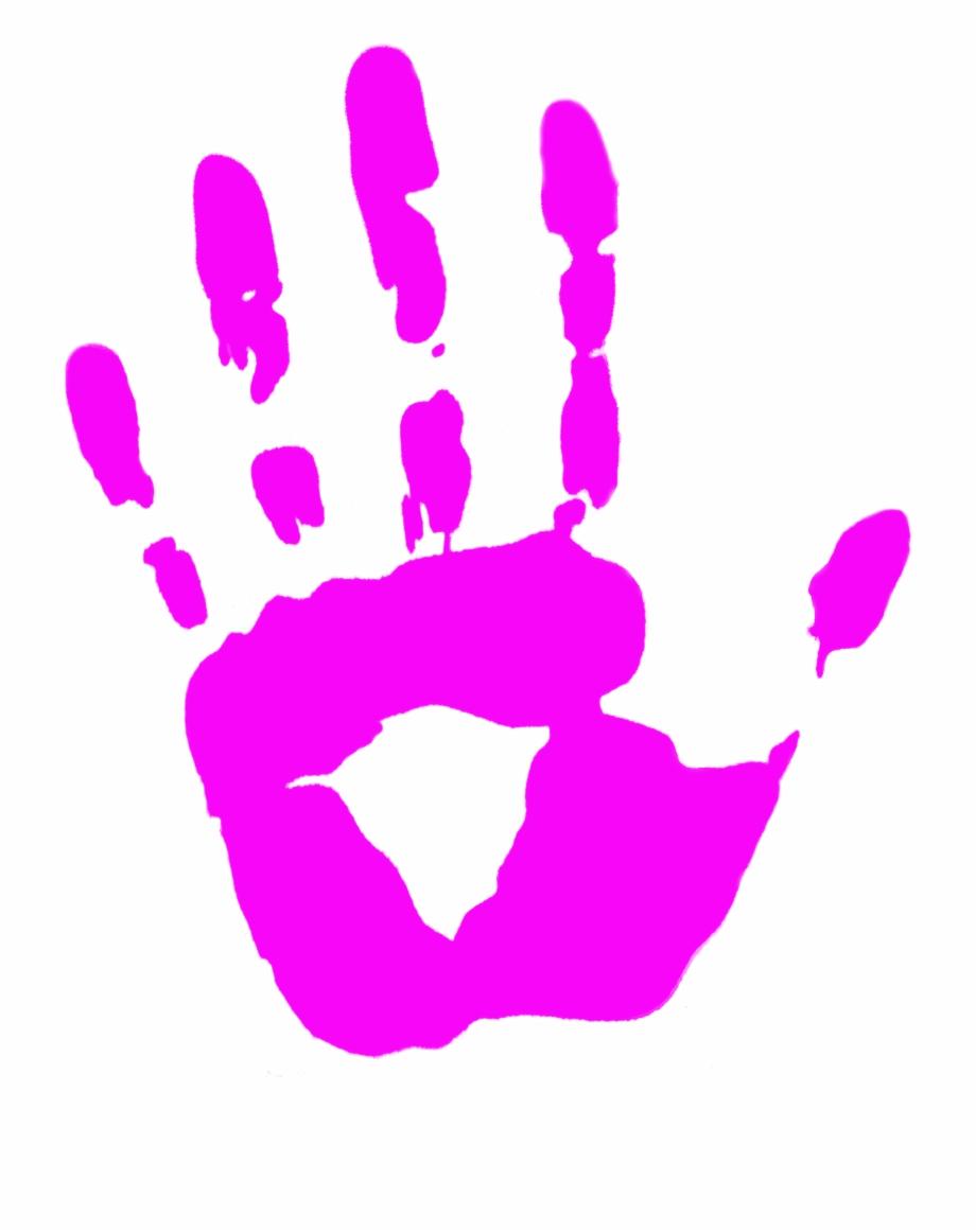 Handprint clipart pink. Banner transparent stock child