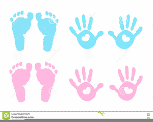 Handprint clipart pink baby. Free images at clker
