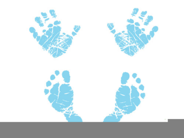 Handprint clipart pink. Baby x free clip