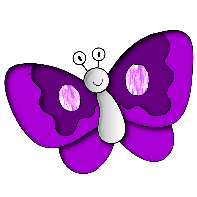 Vilett clipground butterfly clip. Handprint clipart purple