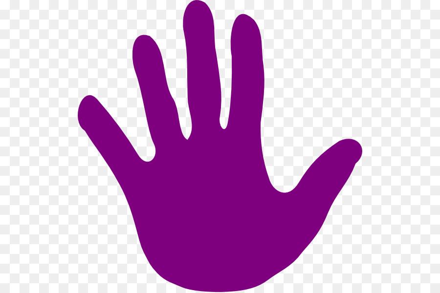 Handprint clipart purple. Color background hand transparent