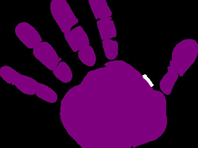 Handprint clipart purple. Left hand cliparts free