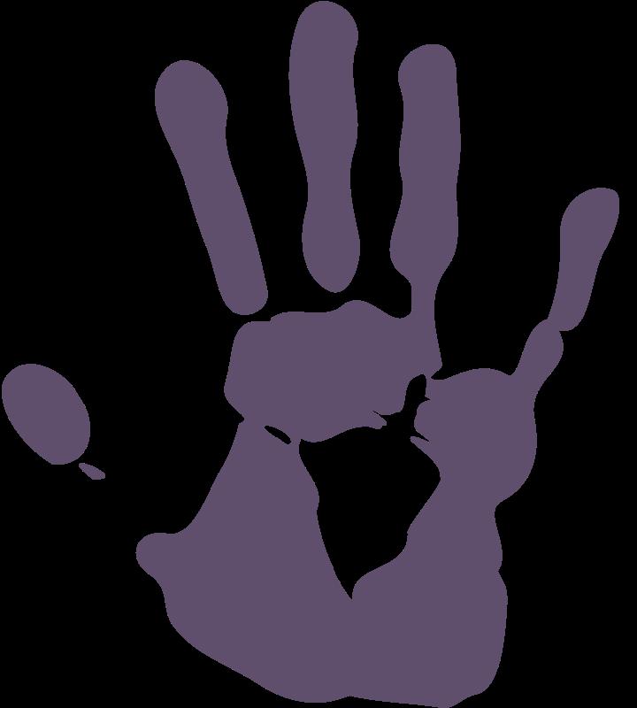 Handprint clipart purple. Palmprint medium image png