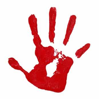 Hand print clip art. Handprint clipart red