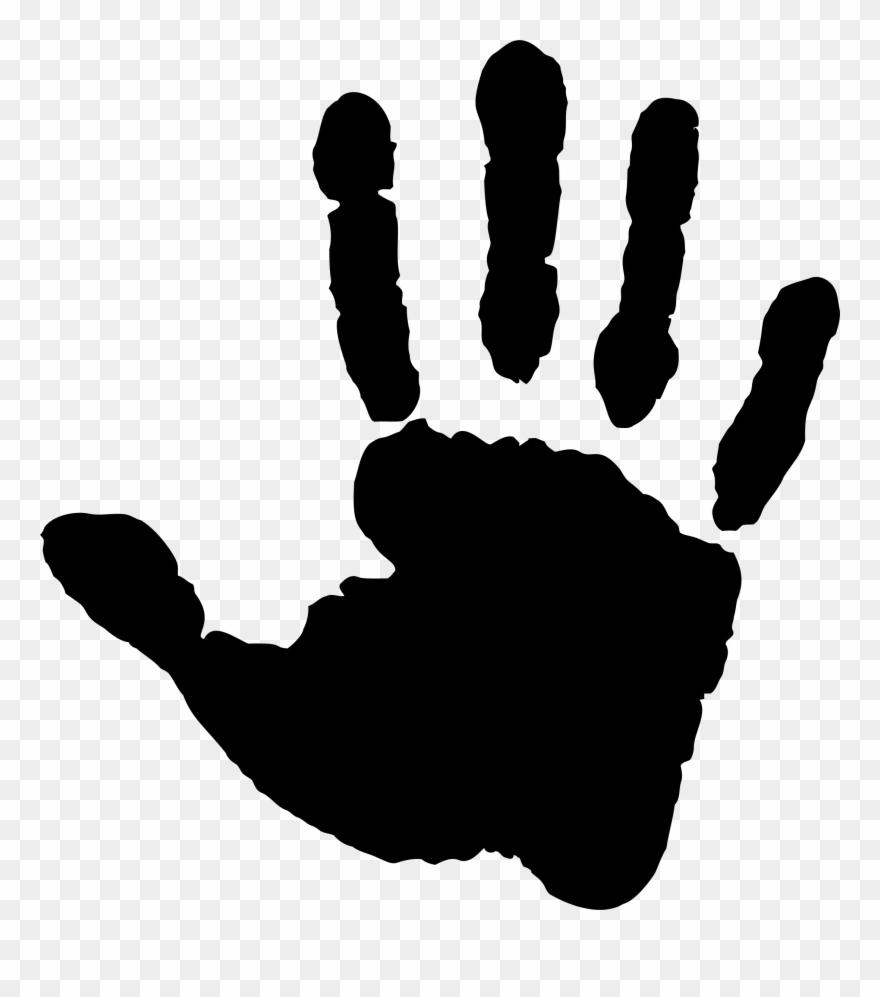 Handprint clipart right. Big image hand print