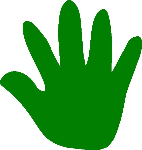 Hand clip art at. Handprint clipart right