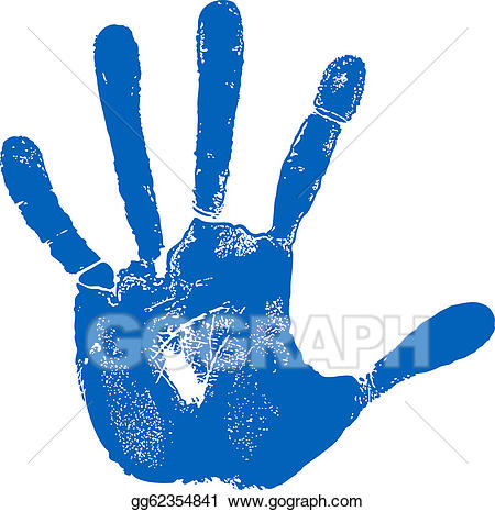 Handprint clipart right hand man. Vector art left print