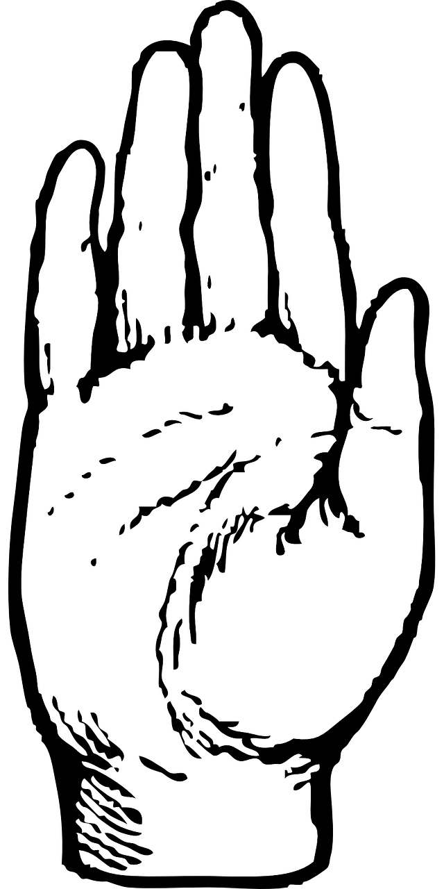 Handprint clipart right handed. Palm hand human raised