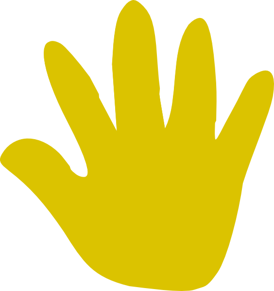 High five free on. Handprint clipart right handed