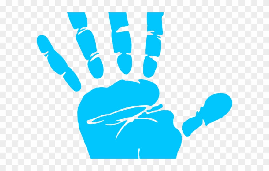 Transparent clip art hand. Handprint clipart right