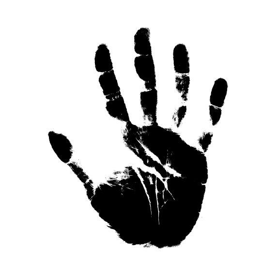 Svg files for cricut. Handprint clipart silhouette