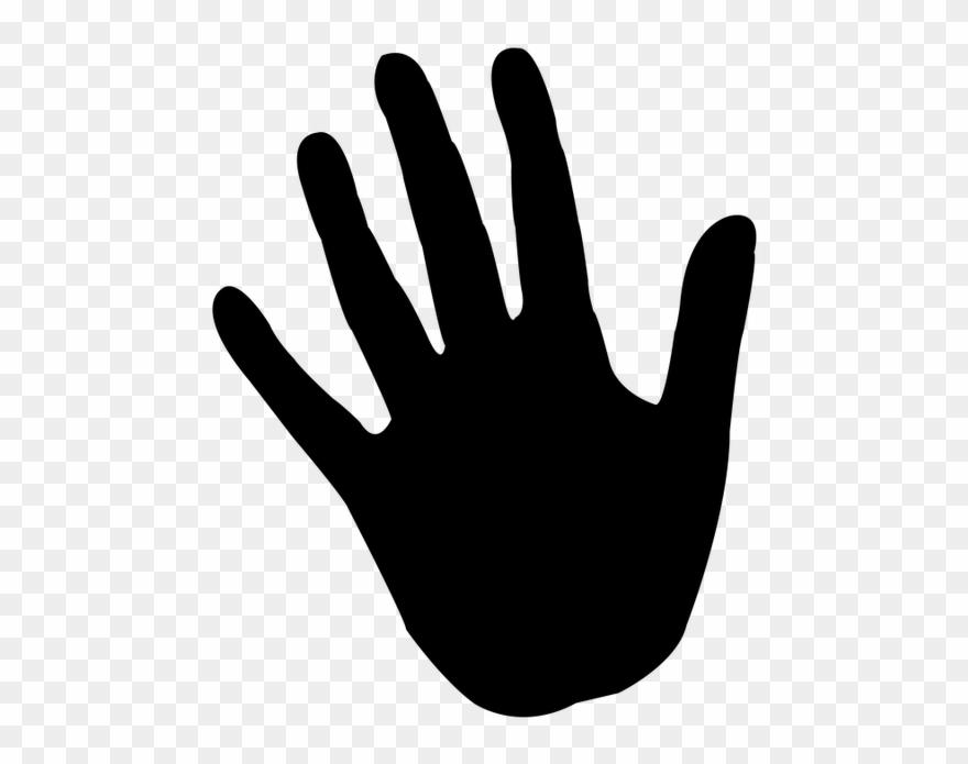 Handprint clipart silhouette. Hand reprint icon color