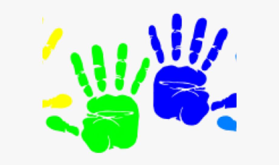 Handprint clipart small. Transparent colorful hand prints
