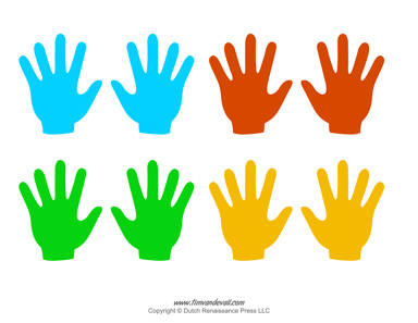 Handprint clipart small. Coloring page free download