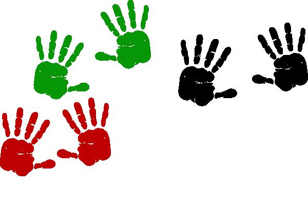 Hand clip art library. Handprint clipart small