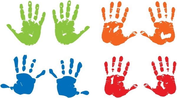 Free vector download for. Handprint clipart svg