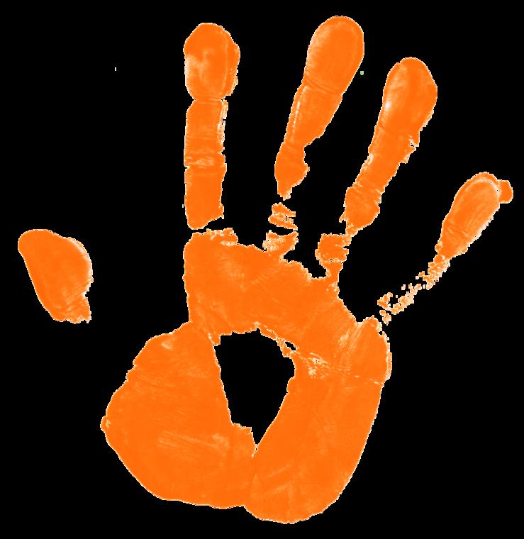 Pics for kids png. Handprint clipart transparent background