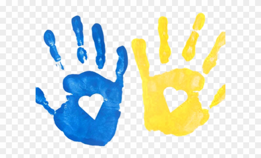 Hand print png . Handprint clipart transparent background