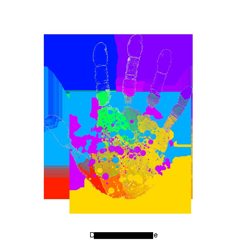 Handprint clipart transparent background, Handprint ...