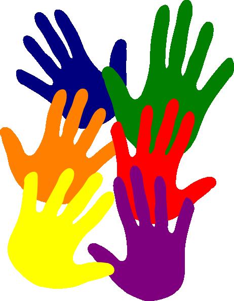 Handprint clipart volunteer hand. Colorful hands free download