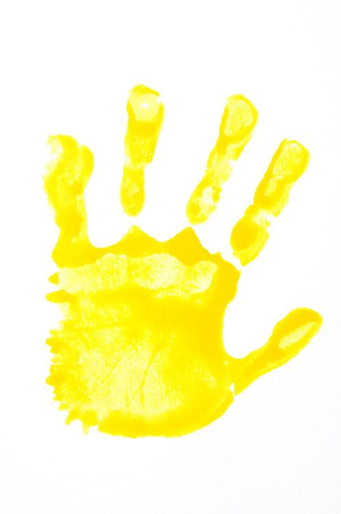 Handprint clipart yellow. Download clip art hand