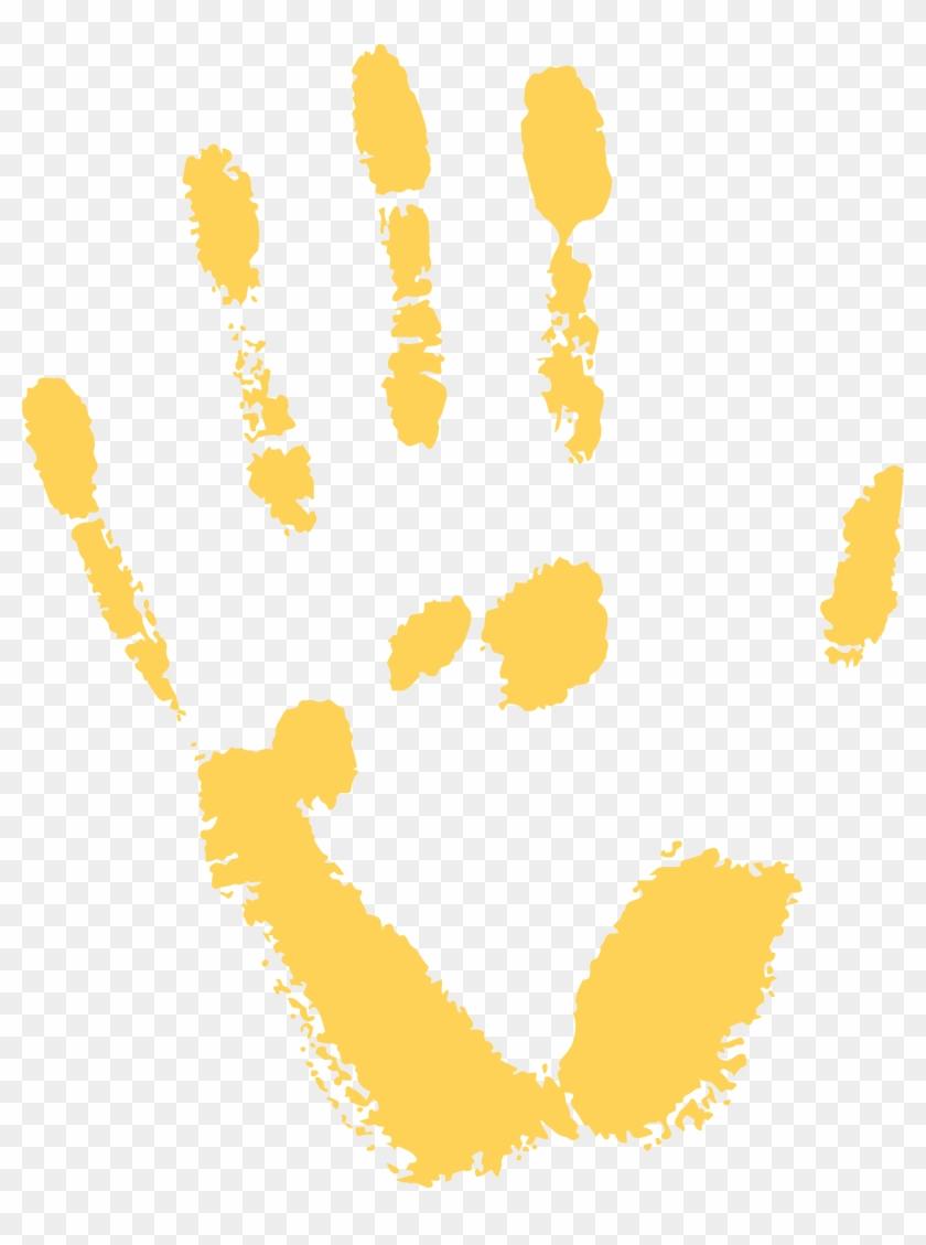 Free png clip art. Handprint clipart yellow