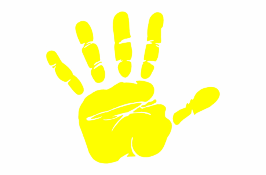 Handprint clipart yellow. Hand print clip art