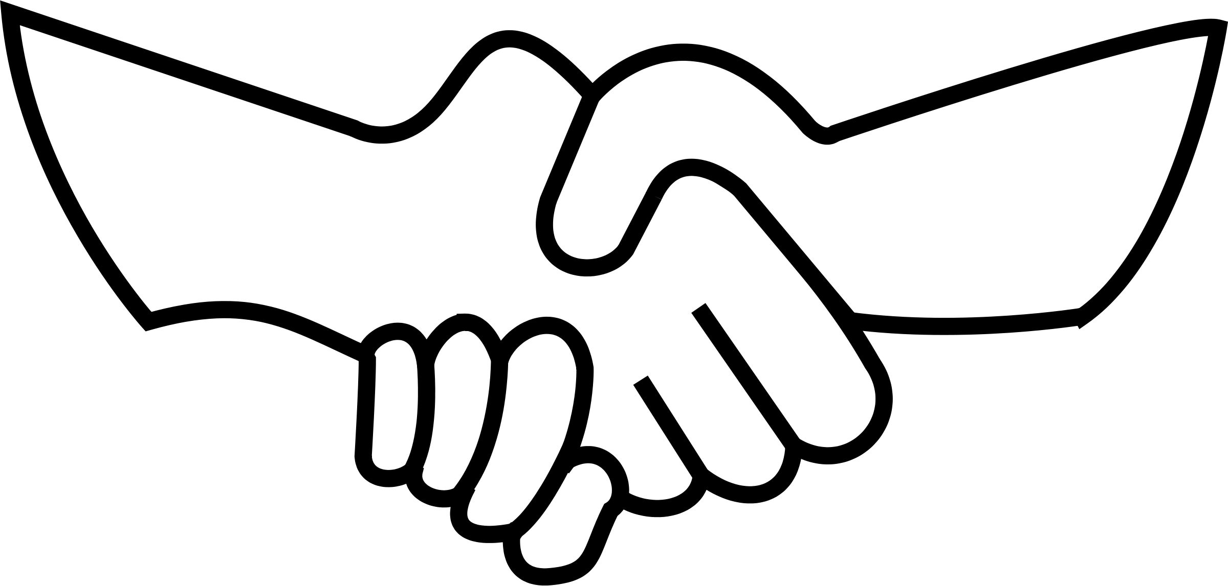 Helping hand silhouette at. Handshake clipart brotherhood