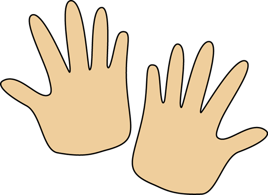Clipart hands. Pair of