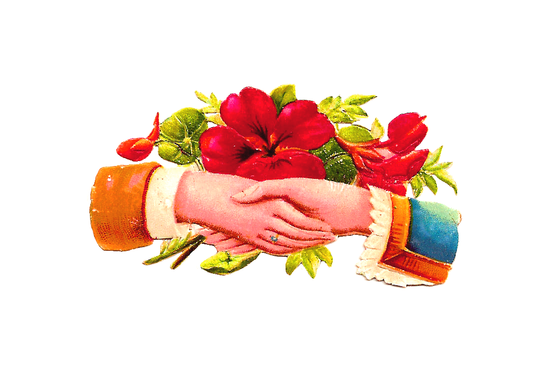 Hands clipart flower.  collection of wedding