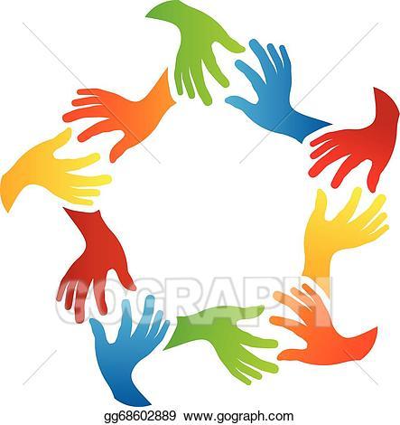 Eps vector social friends. Hands clipart friend