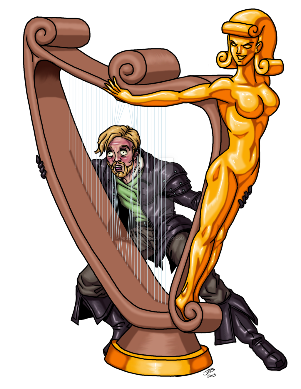 Hands clipart harp. Animated by prodigyduck on