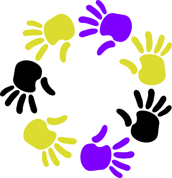 Hands clipart plant. Circle of clip art