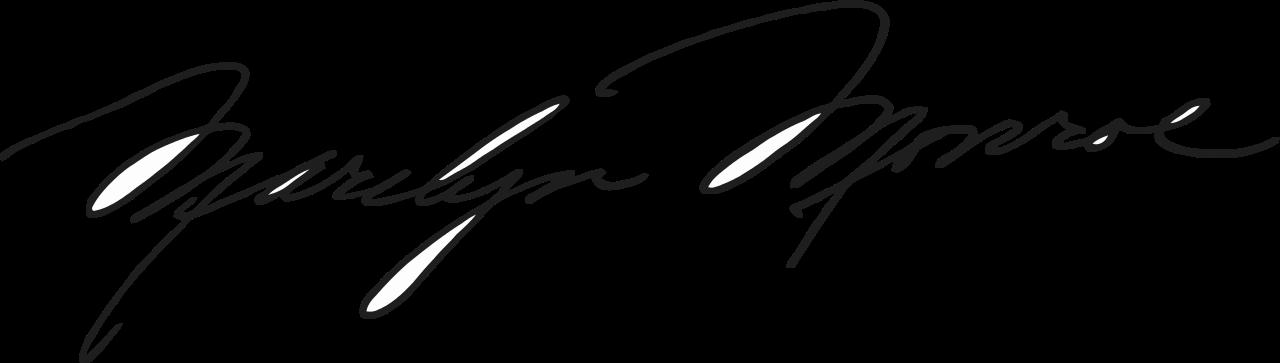 Hands clipart signature. Marilyn s stylish monroe
