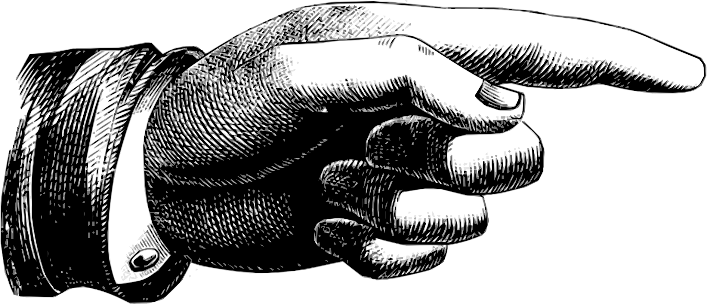 Pointing hand by scyg. Hands clipart signature
