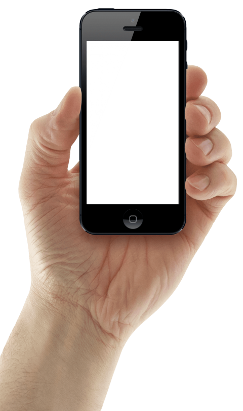 Hands clipart smartphone. Hand holding iphone png