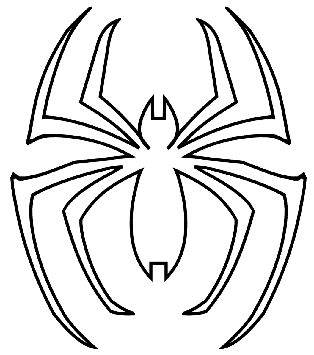 Spider clipart symbol. Man logo template comic
