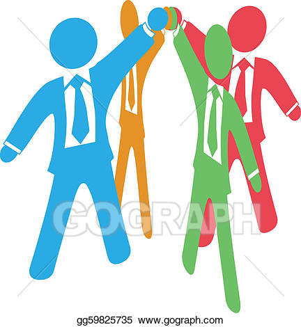 Eps vector business people. Hands clipart team